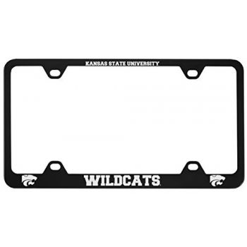 Kansas State University -Metal License Plate Frame-Black