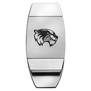 Utah Valley University - Two-Toned Money Clip - Silver