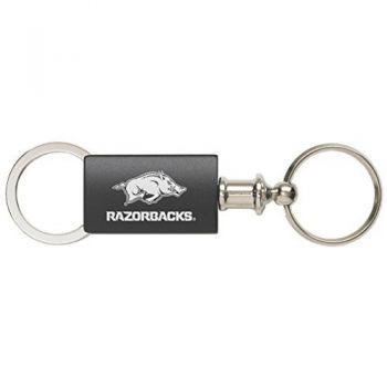 University of Arkansas - Anodized Aluminum Valet Key Tag - Black