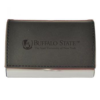 Velour Business Cardholder-Buffalo State University-The State University of New York-Black