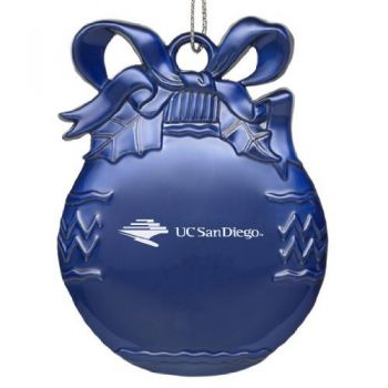 University of California - San Diego - Pewter Christmas Tree Ornament - Blue
