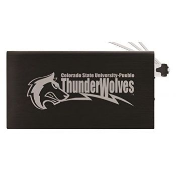 8000 mAh Portable Cell Phone Charger-California State University, Pueblo-Black