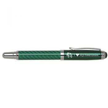 Carbon Fiber Rollerball Pen-I love my Pomeranian-Green