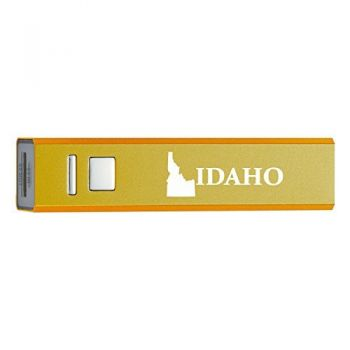 Idaho-State Outline-Portable 2600 mAh Cell Phone Charger-