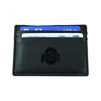 Ohio State University-European Money Clip Wallet-Black