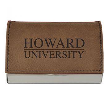 Velour Business Cardholder-Howard University-Brown