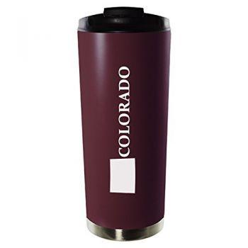 16 oz Vacuum Insulated Tumbler with Lid - Colorado State Outline - Colorado State Outline