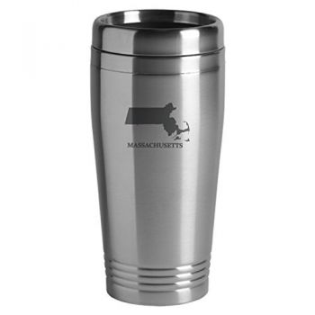 16 oz Stainless Steel Insulated Tumbler - Massachusetts State Outline - Massachusetts State Outline