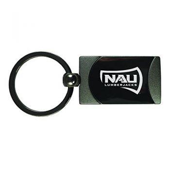 Northern Arizona University -Two-Toned Gun Metal Key Tag-Gunmetal