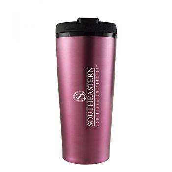 Southeastern Louisiana University -16 oz. Travel Mug Tumbler-Pink
