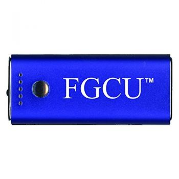 Florida Gulf Coast University -Portable Cell Phone 5200 mAh Power Bank Charger -Blue