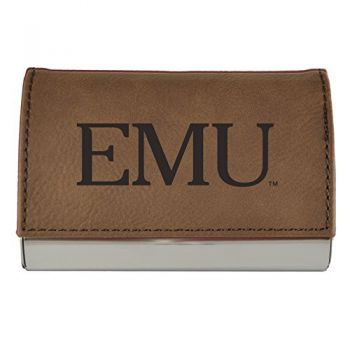 Velour Business Cardholder--Brown
