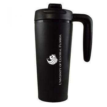 University of Central Florida -16 oz. Travel Mug Tumbler with Handle-Black