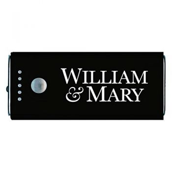College of William & Mary-Portable Cell Phone 5200 mAh Power Bank Charger -Black
