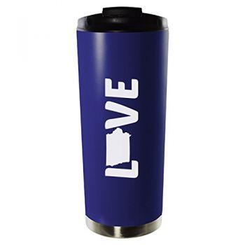 16 oz Vacuum Insulated Tumbler with Lid - Iowa Love - Iowa Love