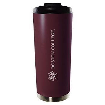 Boston College-16oz. Stainless Steel Vacuum Insulated Travel Mug Tumbler-Burgundy