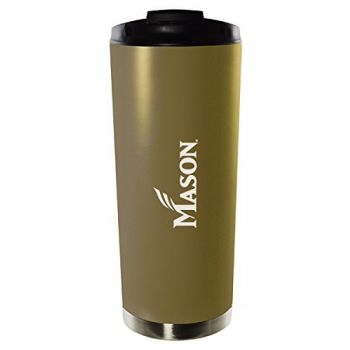 George Mason University-16oz. Stainless Steel Vacuum Insulated Travel Mug Tumbler-Gold