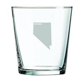 13 oz Cocktail Glass - Nevada State Outline - Nevada State Outline