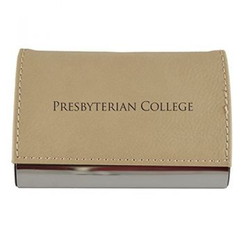 Velour Business Cardholder-Presbyterian College-Tan