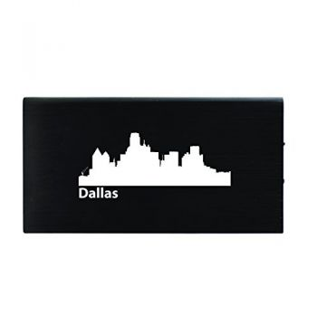 Dallas, Texas-8000 mAh Portable Cell Phone Charger-Black