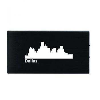 Quick Charge Portable Power Bank 8000 mAh - Dallas City Skyline