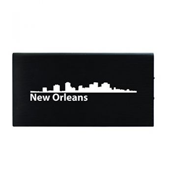 New Orleans, Louisiana-8000 mAh Portable Cell Phone Charger-Black