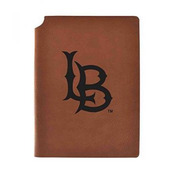 Long Beach State University Velour Journal with Pen Holder|Carbon Etched|Officially Licensed Collegiate Journal|