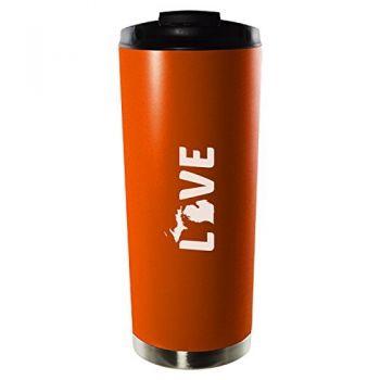 16 oz Vacuum Insulated Tumbler with Lid - Michigan Love - Michigan Love