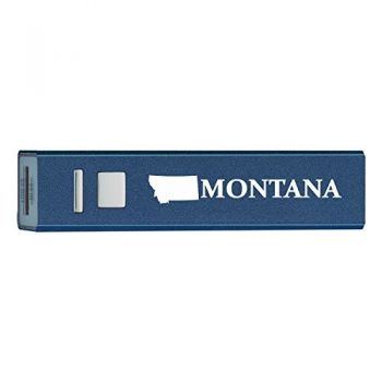 Montana-State Outline-Portable 2600 mAh Cell Phone Charger-