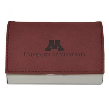 Velour Business Cardholder-University of Minnesota-Burgundy