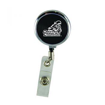 Coastal Carolina University-Retractable Badge Reel-Black