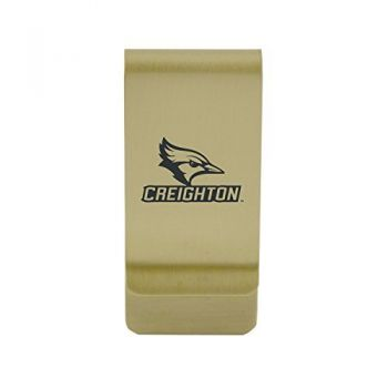 Coastal Carolina University|Money Clip with Contemporary Metals Finish|Solid Brass|High Tension Clip to Securely Hold Cash, Cards and ID's|Silver