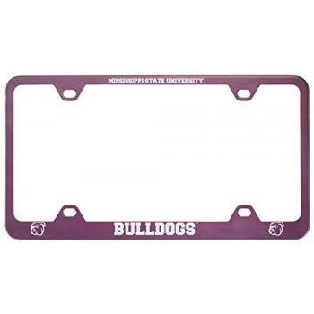 Mississippi State University -Metal License Plate Frame-Pink