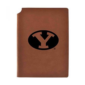 Brigham Young University Velour Journal with Pen Holder|Carbon Etched|Officially Licensed Collegiate Journal|