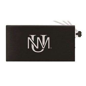 8000 mAh Portable Cell Phone Charger-The University of New Mexico -Black