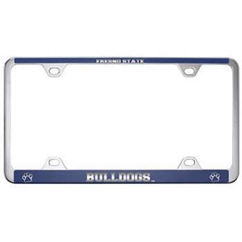 Fresno State -Metal License Plate Frame-Blue