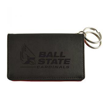 Velour ID Holder-Ball State University-Black