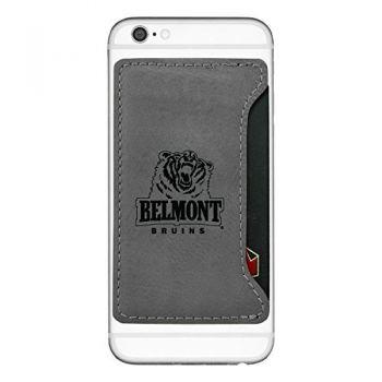 Belmont University-Cell Phone Card Holder-Grey