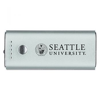 Seattle University -Portable Cell Phone 5200 mAh Power Bank Charger -Silver