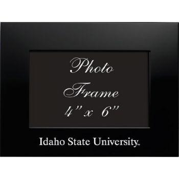 Idaho State University - 4x6 Brushed Metal Picture Frame - Black