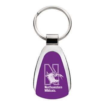 Northwestern University - Teardrop Keychain - Purple