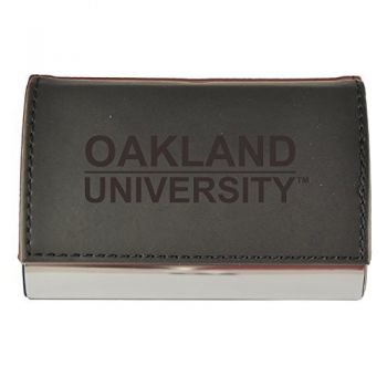 Velour Business Cardholder-Oakland University-Black