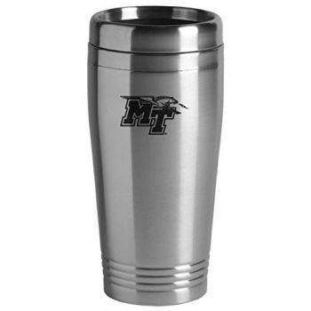 Middle Tennessee State University - 16-ounce Travel Mug Tumbler - Silver