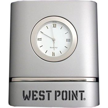 United States Military Academy at West Point- Two-Toned Desk Clock -Silver