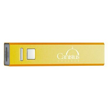 Canisius College - Portable Cell Phone 2600 mAh Power Bank Charger - Gold