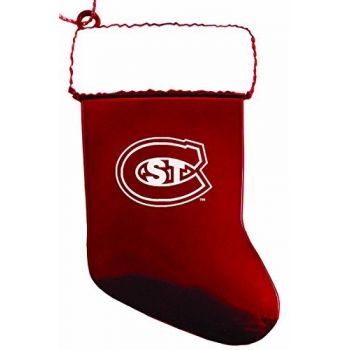 St. Cloud State University - Christmas Holiday Stocking Ornament - Red