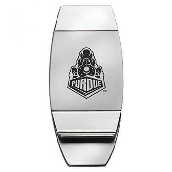 Purdue University - Two-Toned Money Clip - Silver