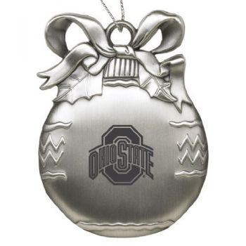 Ohio State University - Pewter Christmas Tree Ornament - Silver