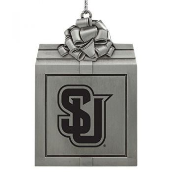 Seattle University -Pewter Christmas Holiday Present Ornament-Silver