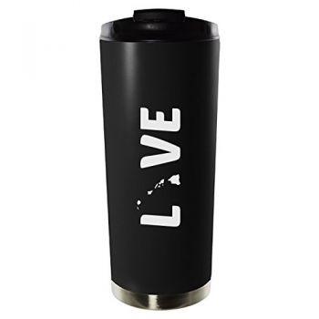 16 oz Vacuum Insulated Tumbler with Lid - Hawaii Love - Hawaii Love